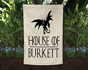 PotteLove Personalized House of Garden Flag- Game of Thrones- GOT-Customized House of Garden Flag, Customizable Text 12 x 18 Inch