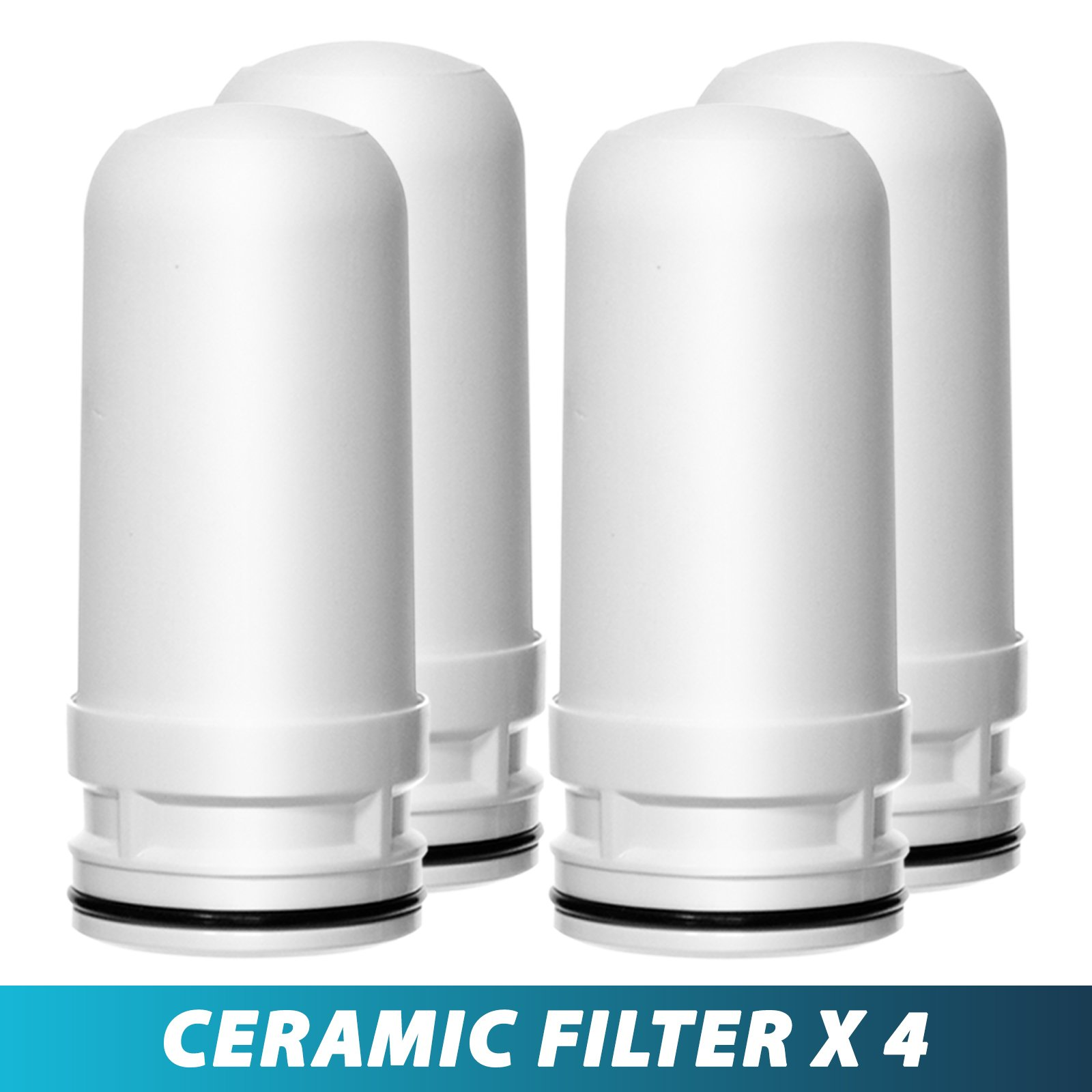Ceramic Replacement Cartridge for LittleWell Faucet Mount Water Filters DFC1, DFW1, DFW2 (Pack of 4)…