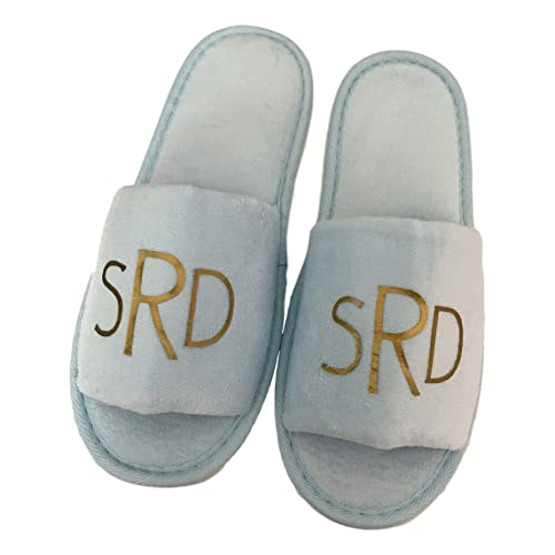c2fa6e95cfff Amazon.com  Custom Monogrammed Slippers in Multiple Colors  Handmade