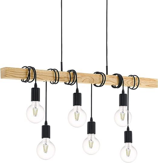 LED SMD Decken Pendel Esstisch Hänge Lampe Beleuchtung Esszimmer Stahl Glas EGLO