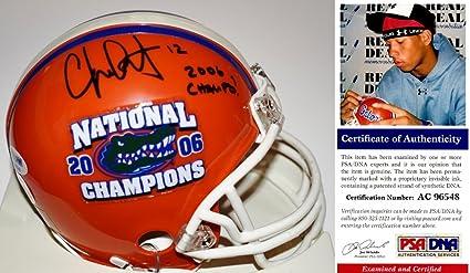 1874692805025 Chris Leak Signed - Autographed Florida Gators UF Mini Helmet with 2006  CHAMPS inscription and Logo