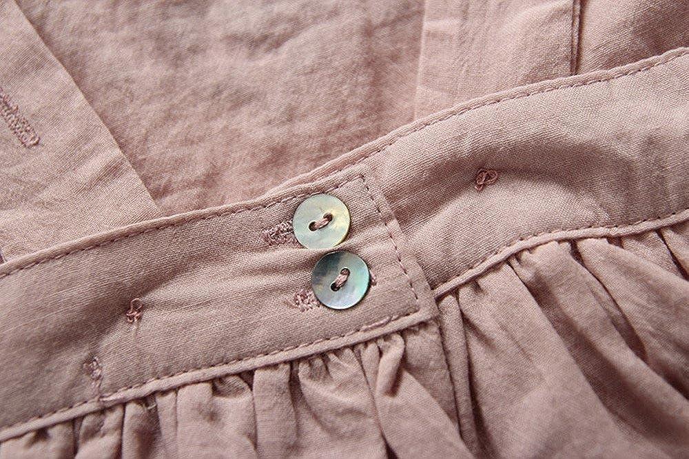 051c30ae4 Birdfly Baby Girls Embroidered Ruffle Sleeveless Pinafore Dress ...