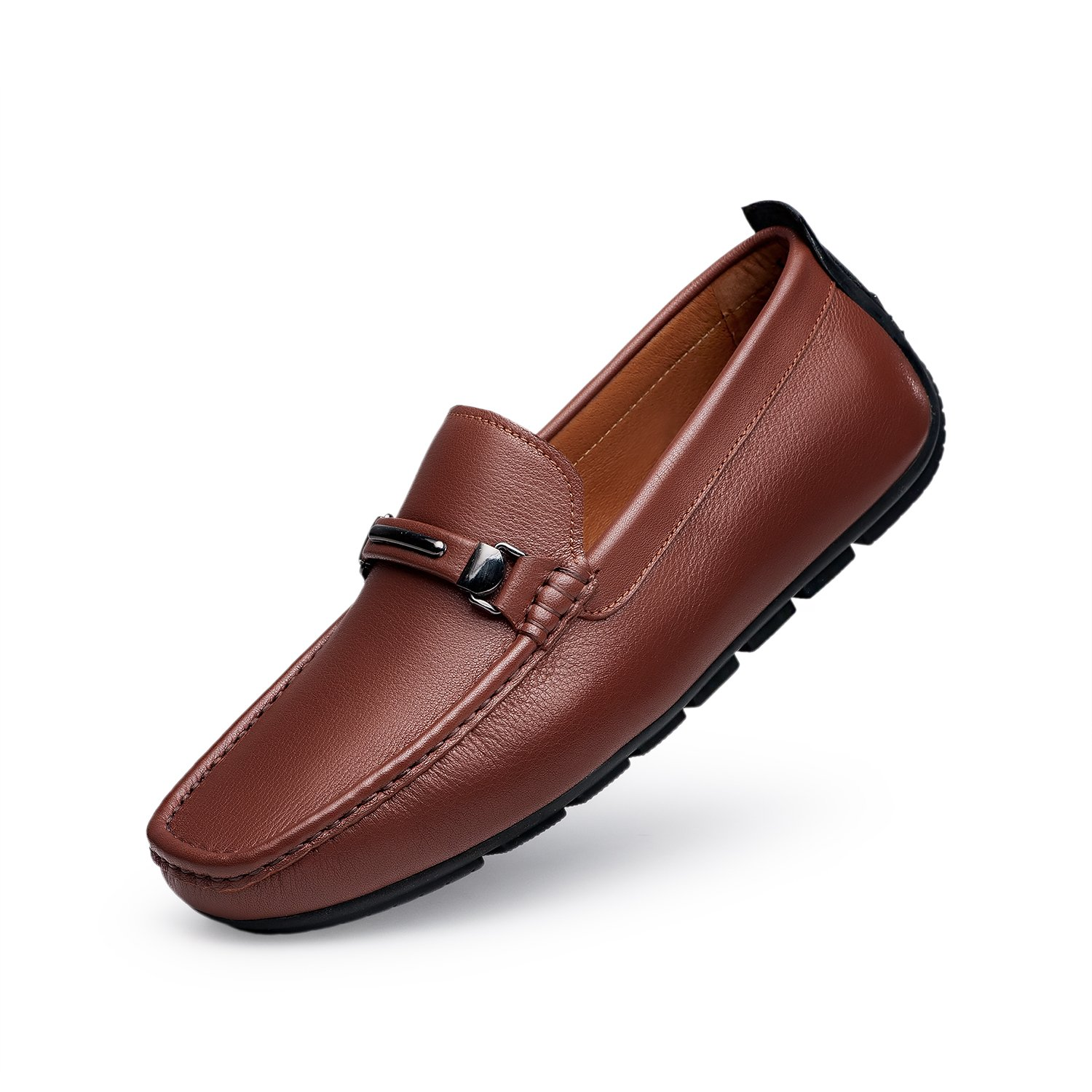 ZRO Men's Casual Fashion Driving Loafers Flats Boat shoes Brown US 6
