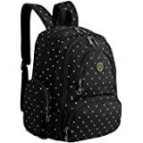Imyth Large Capacity Baby Diaper Backpack Bag Fit Stroller BlackDot