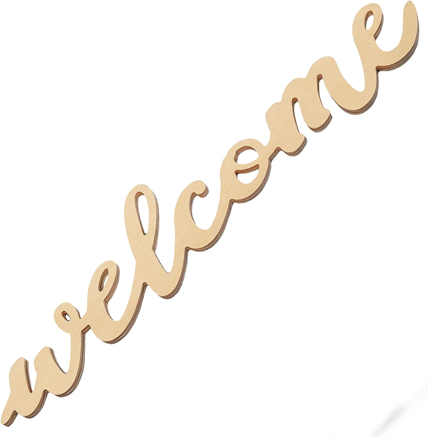 HD-Crafts Rustic Wood Sign for Home Decor (Welcome, Regular)