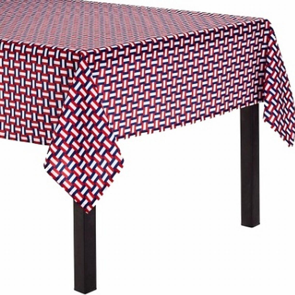 Amazoncom americana home decor - Amazon Com Summer Decor Americana Tablecloth Red White Blue Fabric Table Cloth 70 Round Home Kitchen