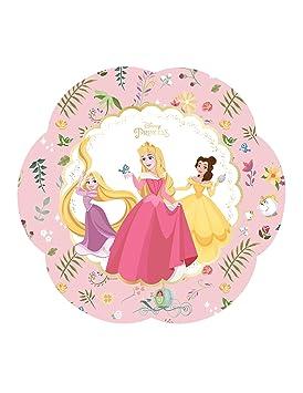 COOLMP - Juego de 12 Platos de cartón Premium Princesas ...