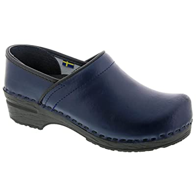 Bjork PRO ELI Men's Navy Blue Leather Clogs | Mules & Clogs