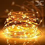 10 M 100 LED Waterproof USB Copper string lights,valentine lights, Indoor, Outdoor Diwali, Christmas Lights Waterproof Starry String Lights for DIwali,Christmas, Party, Holiday(Warm white)