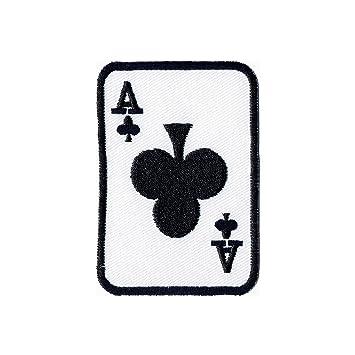 Kreuz Karte.Aufnäher Bügelbild Iron On Patches Applikation Ass Karte Poker Kreuz