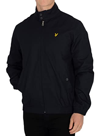 Lyle & Scott Hombre Chaqueta Harrington, Azul: Amazon.es ...