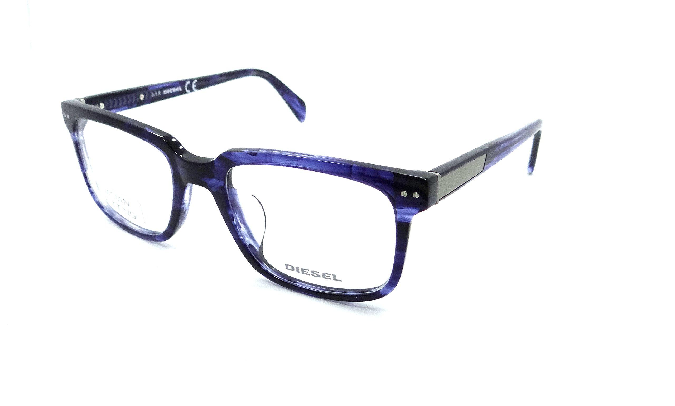 Diesel Rx Eyeglasses Frames DL5206-D 092 54-20-145 Transparent Blue Asian Fit
