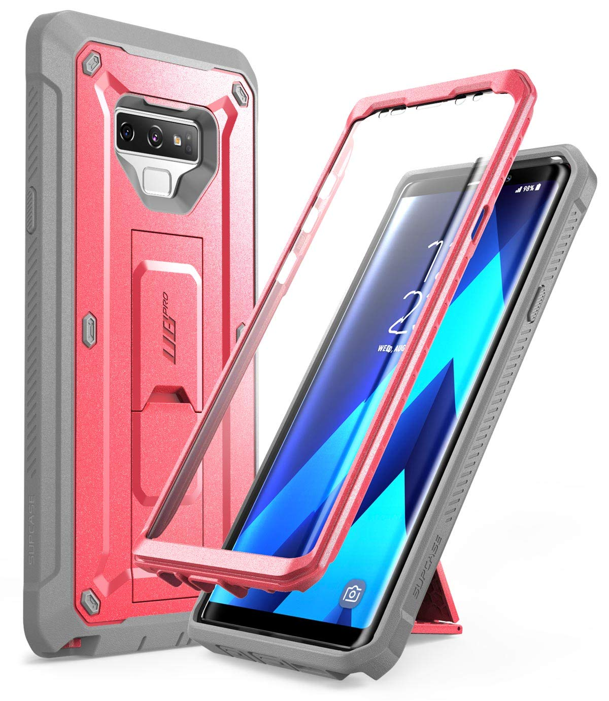 Samsung Galaxy Note 9 Case, SUPCASE Full-Body Rugged Holster Case with Built-in Screen Protector for Galaxy Note 9 (2018 Release), Unicorn Beetle Pro Series - Retail Package (Pink)