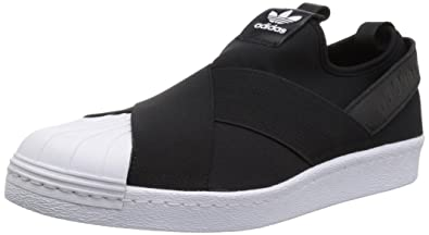 adidas Originals Women\u0027s Shoes | Superstar Slip On W Sneaker, Black/Black /White
