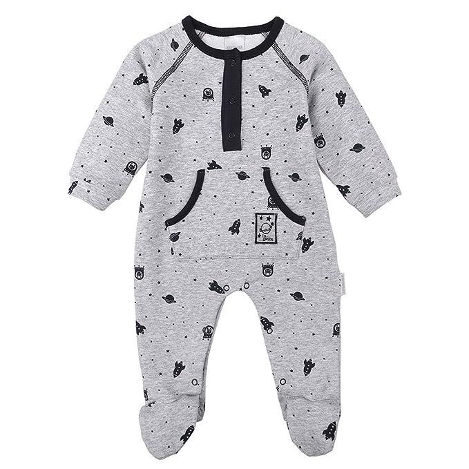 Stummer Nacimiento Bebé Niño Mono, Onesie Bebé, Pelele, Pijama, Gris, Talla