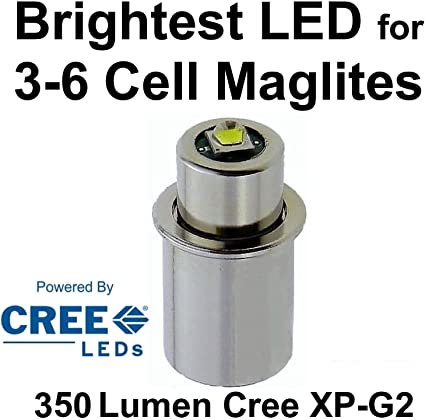 Maglite 2D Cell Gray w//NiteIze LED Upgrade no switch seal