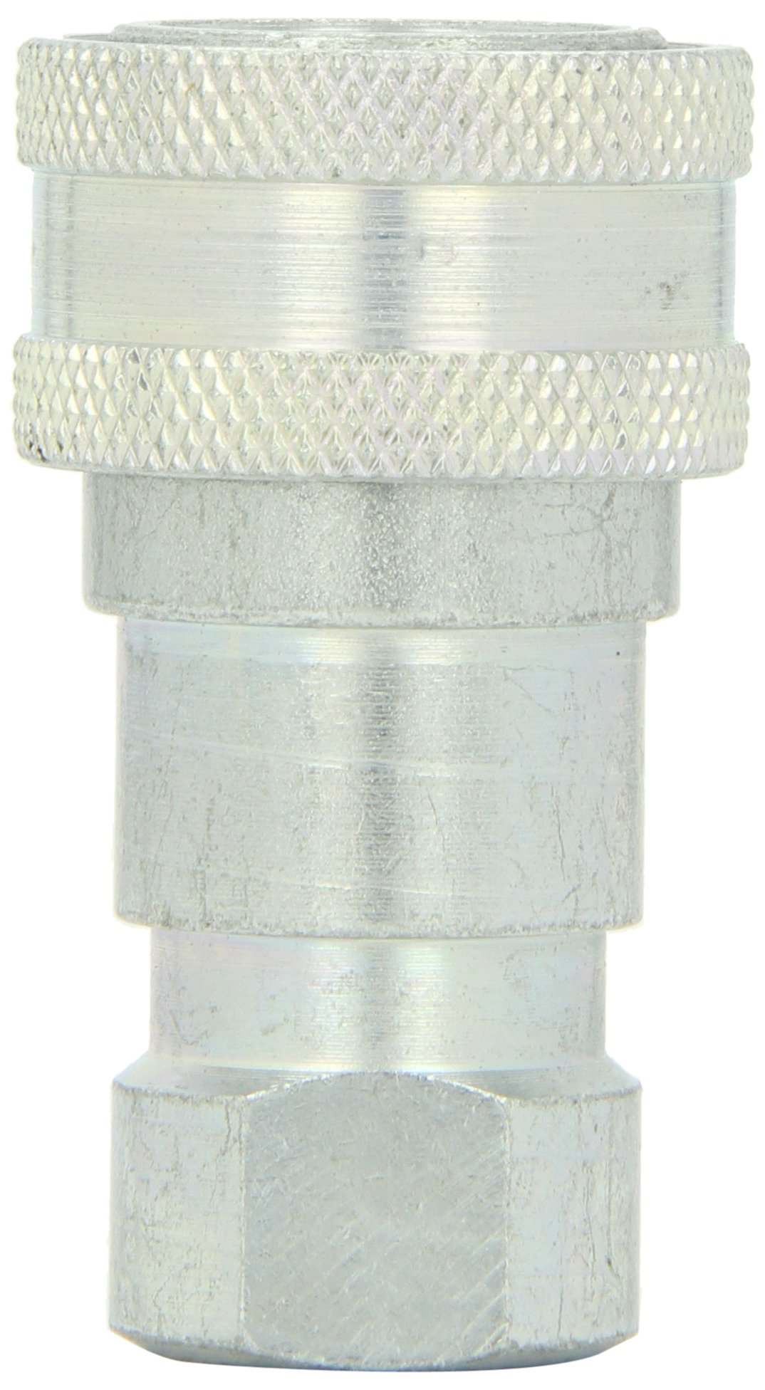 Dixon B16-363 Brass Industrial Hydraulic Quick-Connect Fitting, Poppet Valve Coupler, 3/8'' Coupling x 3/8'' - 18 NPTF