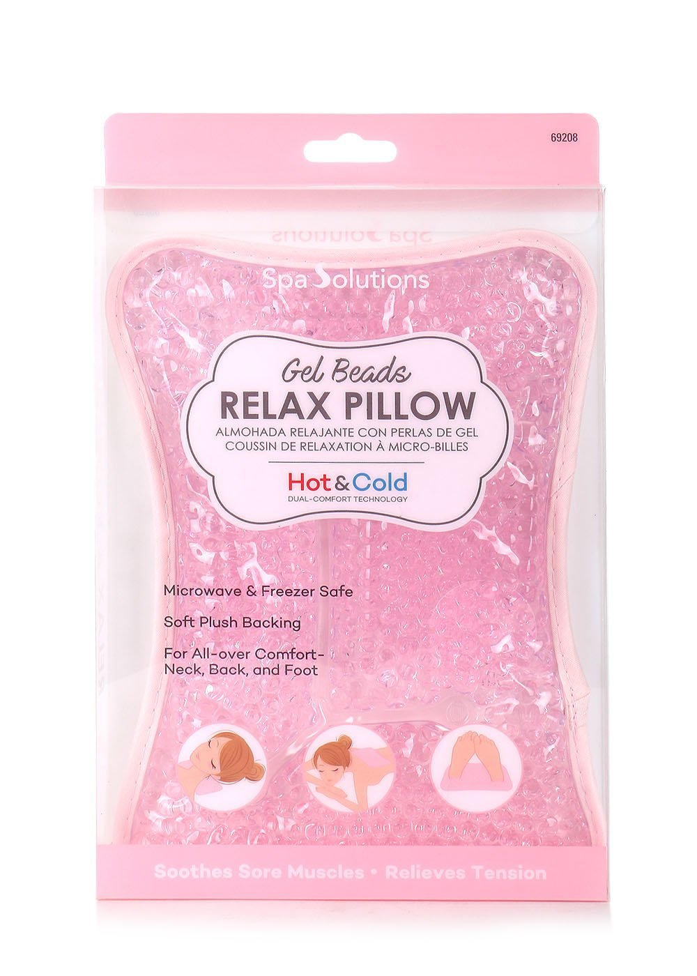 SPA SOLUTIONS GEL BEADS RELAX PILLOW PINK Cala
