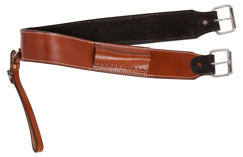 テラコッタChestnut Smooth Leather Western Pleasure Trial EnduranceホースサドルバックCinch背面回りFlankストラップ Horse  B07945LRL6