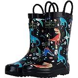 CasaMiel Toddler Rain Boots for Kids Unisex Kids Rain Boots for Boys and Girls, Handmade Natural Rubber Rain Boots for Children Botas para Niños