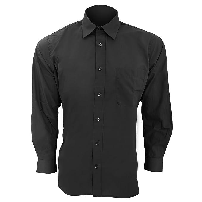 1d14078fe35 SOLS - Camisa de Popelina de Manga Larga para Trabajar Modelo Baltimore  Hombre Caballero - Trabajo Fiesta Verano  Amazon.es  Ropa y accesorios