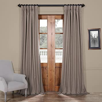 Half Price Drapes PRCT BO04B 108 Solid Cotton Blackout Curtain 50 X