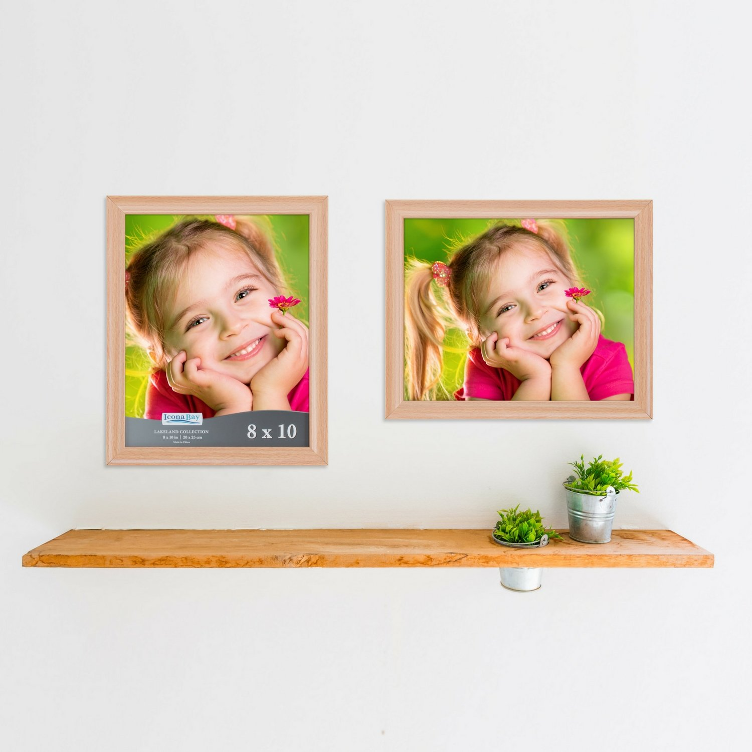 Icona Bay 8 by 10 Inch Picture Frames (8x10, 6 Pack, Beechwood Finish), Photo Frame Set For Wall Hang or Table Top, Lakeland Collection by Icona Bay (Image #8)