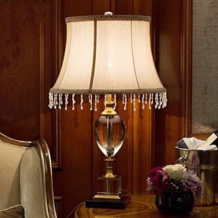 Perfect MILUCE Crystal Table Lamp European Style Decoration Large Study Room Living  Room Lamps Luxury Gold Bedside Light Bedroom Lighting     Amazon.com