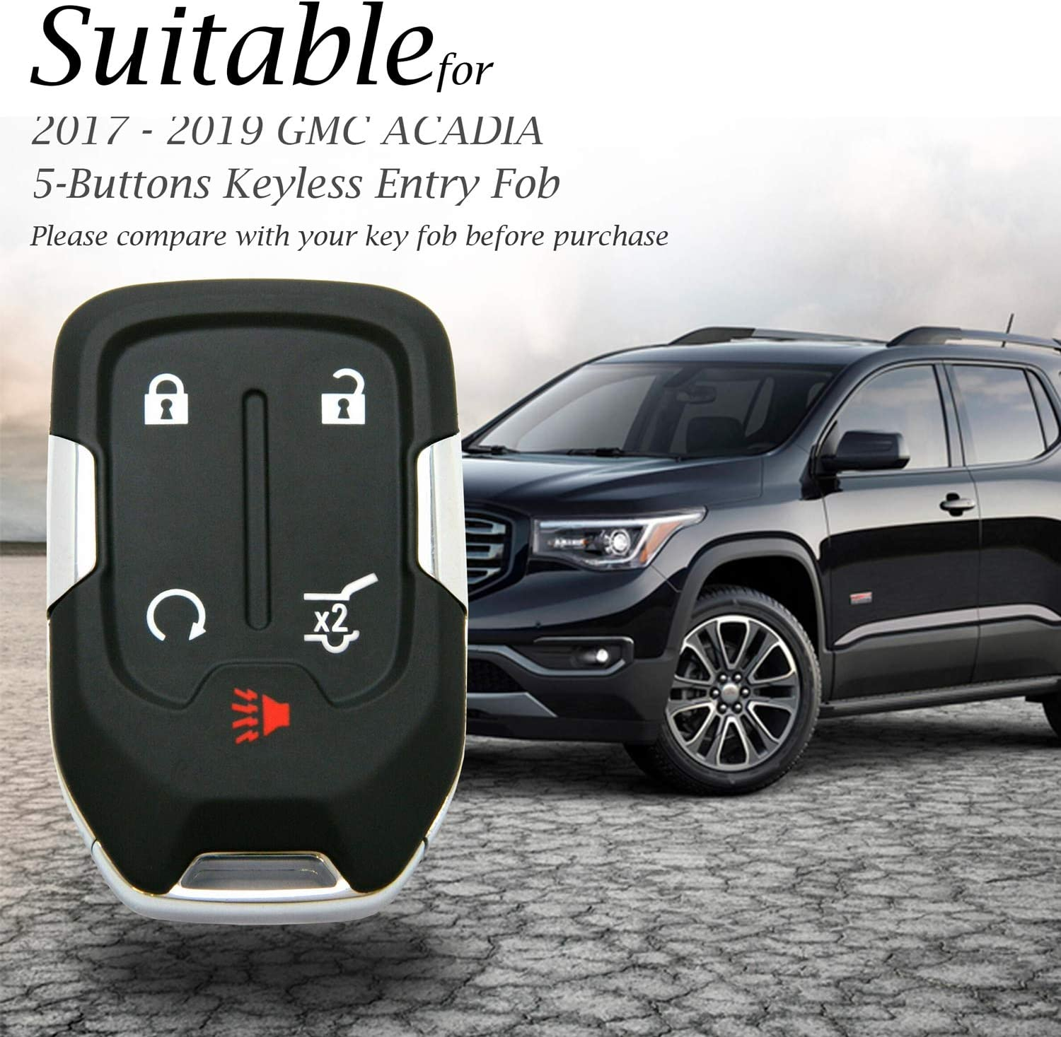 Keyless Remote For 2019 Gmc Acadia Key Fob Car Keyfob Replacement