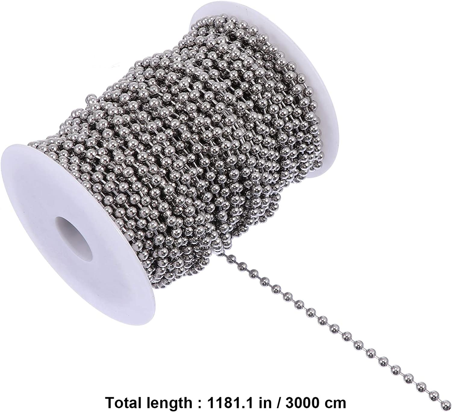 iplusmile Stainless Steel Ball Bead Chain Ball Chains Beaded Pull Chain Extension for Ceiling Fan Light Keychain Tag Bracelet