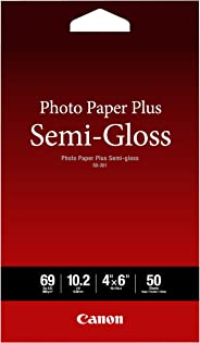 Canon Photo Paper Plus Semi-Gloss, 4 x 6 Inches, 50 Sheets (1686B014)