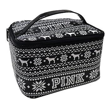 d4cb1851ca25c Amazon.com: Victoria's Secret Travel Make Up Bag Train Case Pink Dog ...