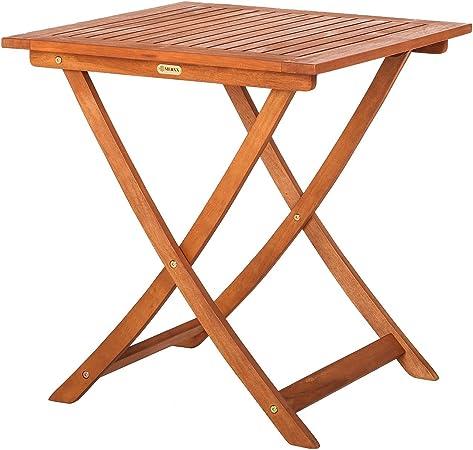 Merxx Garten Klapptisch Aus Holz 70x70 Cm Amazon De