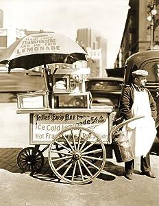 "1936 Hot Dog Stand, New York City, NY Vintage Photograph 8.5"" x 11"" Reprint"
