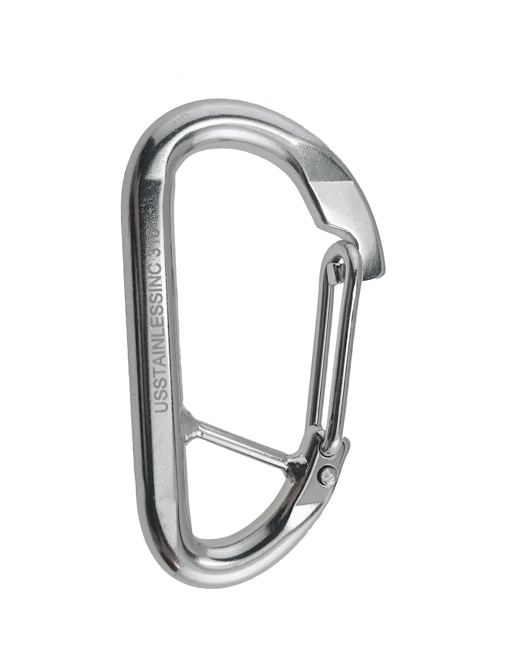 Stainless Steel 316 Spring Hook Carabiner 1/2'' (12mm) Marine Grade Safety Clip Forged