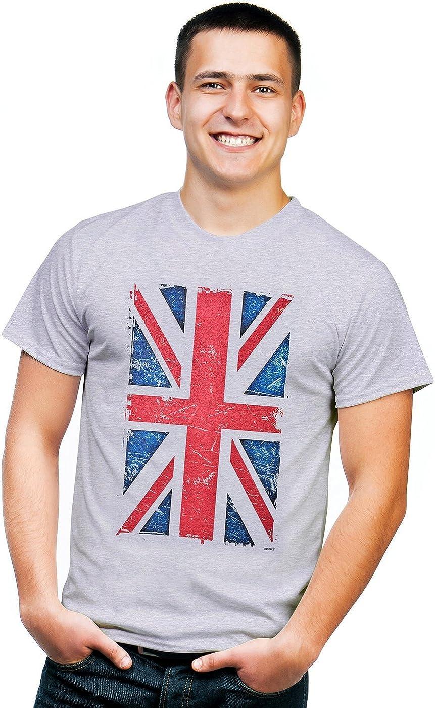 Retreez Vintage Union Jack UK Britain British Flag Graphic Printed T-Shirt Tee