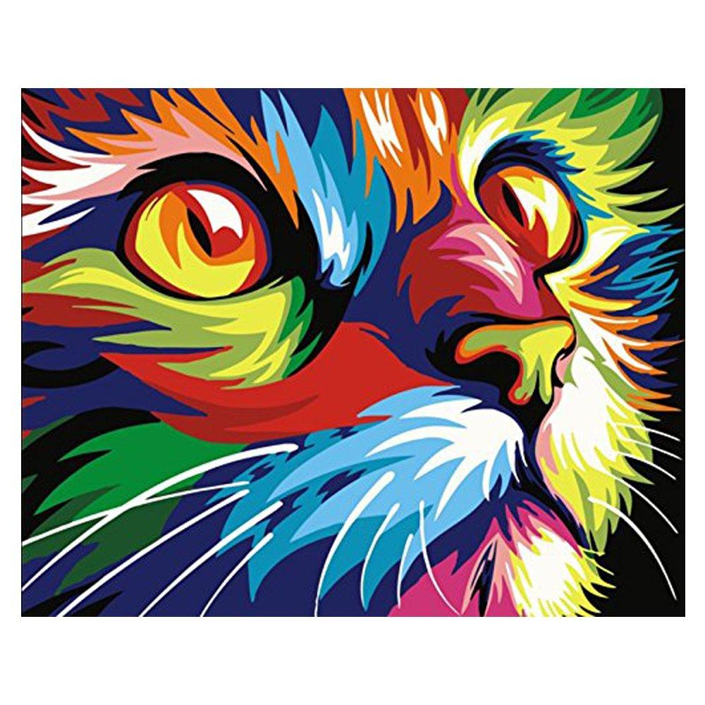 Amazon.com: 5D DIY Diamond Painting - Animal Resin Cross Stitch Kit - Crystals Embroidery - Home Decor Craft (Cat)