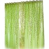 Demiawaking Stile Pastorale Willow Floreale Tenda della Finestra Decorazioni Interni Finestre Camera da Letto 1*2M (verde)