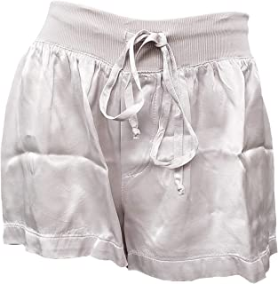 product image for PJ Harlow Women's Mikel Satin Boxer Short with Draw String - PJSB5 (Small, Violet)