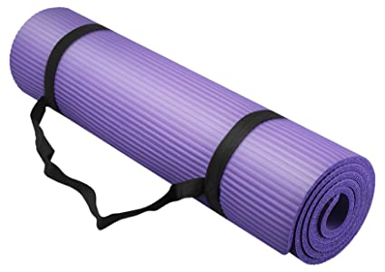 Bojing Yoga Mat, Thick NBR, Multipurpose, Multicolor Optional, with Carrying Bag and Strap, Purple