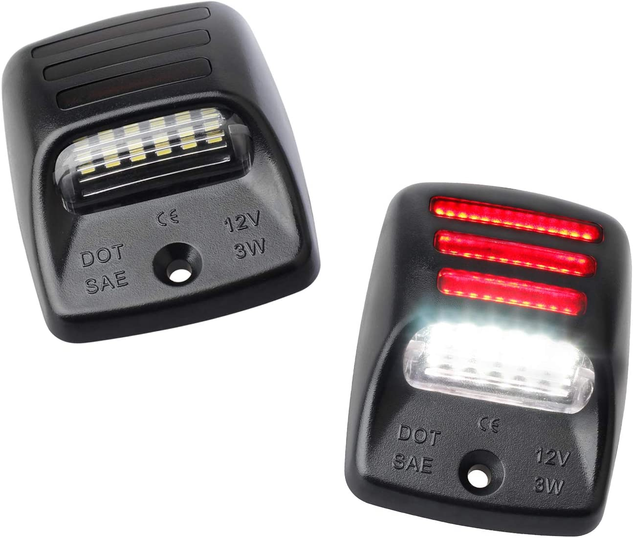 RUXIFEY LED License Plate Lights with Red OLED Neon Tube Compatible with Tacoma 2005 to 2015, Tundra 2000 to 2013