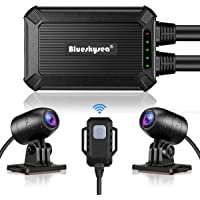 Blueskysea B1M Motorcycle Drive Recorder No Screen Safe Driving 135°Wide Angle IP67 Waterproof, Front and Rear Motor…