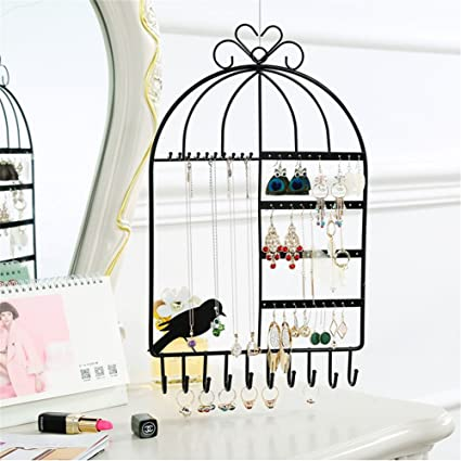 kati-way-uk Soporte para Pendientes, diseño de Jaula de pájaros ...