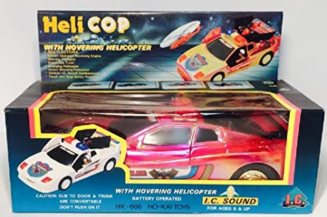 Amazon com: The Heli-cop Car - Battery Operated - Red