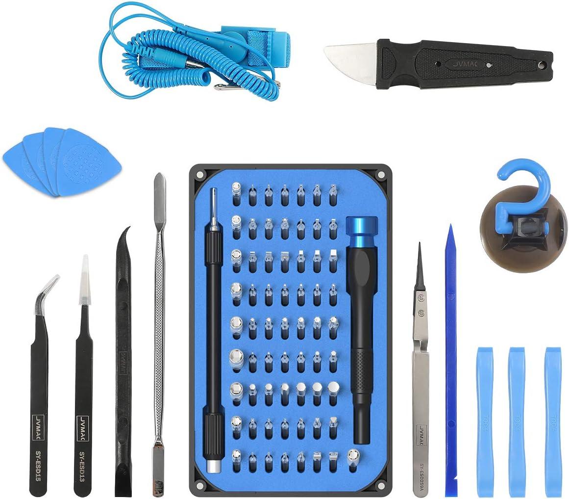 85 en 1 Juego de Destornilladores de Precisión con Magnetizador, Kit de Herramientas de Reparación de Bricolaje Profesional para iPhones, Laptops, Teléfono, Xboxs, Gafas, Reloj, Cámara, TV ect