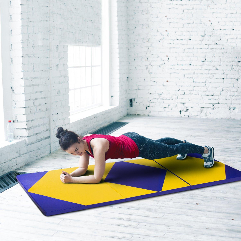 CCLIFE 180x60x5//180x80x5cm Weichbodenmatte Turnmatte Klappbar Gymnastikmatte Farbauswahl