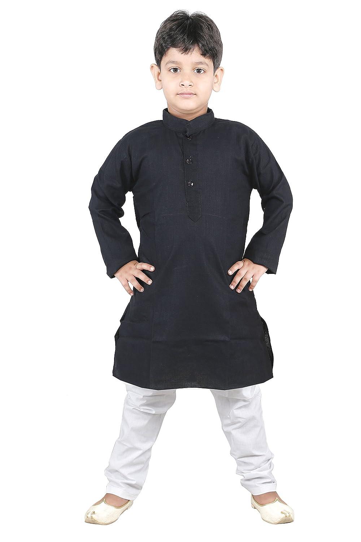 jbn creation Little Boys' Linen Kurta With Cotton Pyjama