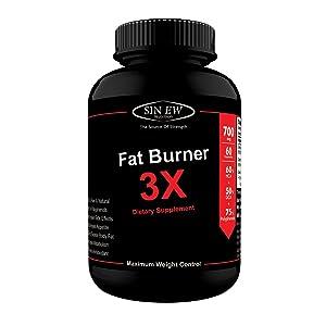 Sinew Nutrition Natural Fat Burner 3X (Green Tea, Green Coffee & Garcinia Cambogia Extract) - 700 mg (60 Count)