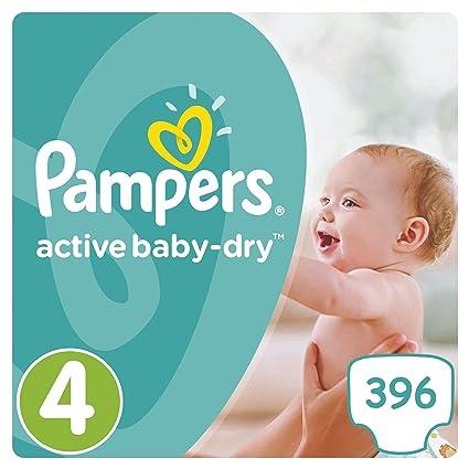 """PAMPERS Active Baby Dry máxima de talla """"4 7 – 14 kg 396"""