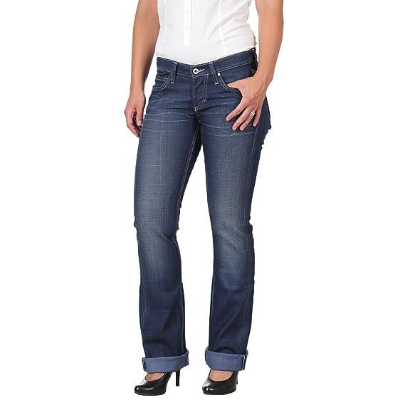5b369123080b Mustang 3572 5514 85 TYRA Damen Jeans, 5-Pocket, Heavy Used Wash, Regular  fit, Low Waist  Amazon.de  Bekleidung